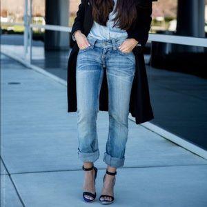 VANILLA STAR Distressed Blue Denim Skinny Jeans 7